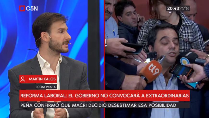 (Español) C5N: debate con Martin Kalos sobre la reforma laboral